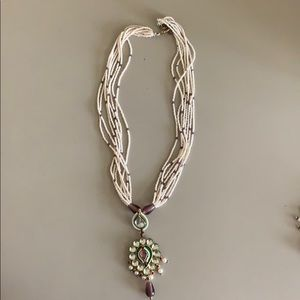 Jewelry - Indian pearl and stone necklace- costume jewelry